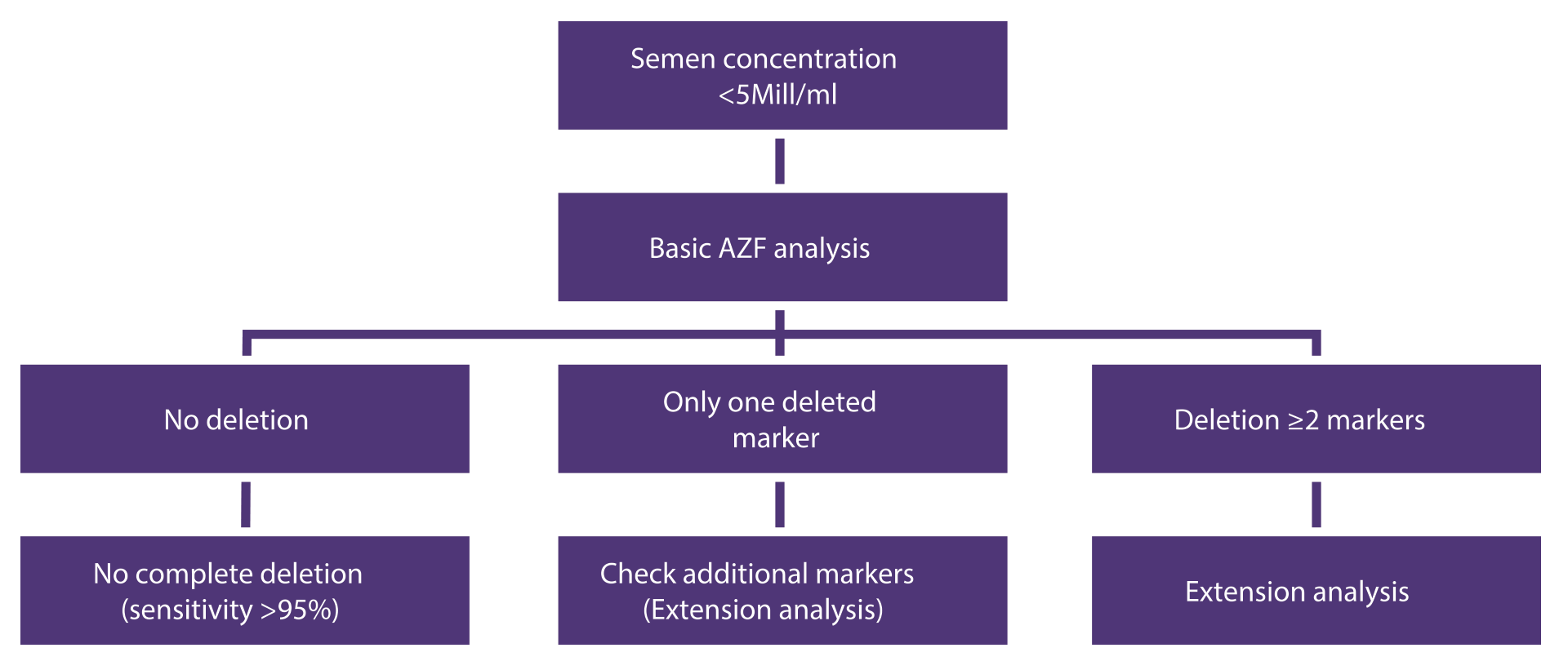 diagnostic steps for Y-chromosome<br>