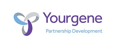 Yourgene partnership development logo CMYK